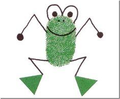 frog crafts for kids « Preschool and Homeschool Kids Crafts, Toddler Crafts, Preschool Crafts, Projects For Kids, Arts And Crafts, Toddler Art, Frog Theme, Fingerprint Art, Footprint Crafts