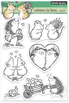 Penny Black - Clear Stamp - Critters In Love