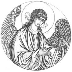 Christian Drawings, Christian Artwork, Byzantine Art, Byzantine Icons, Religious Icons, Religious Art, Line Drawing, Painting & Drawing, Art Sketches