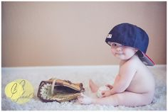 Perfect during baseball season in June for Rocco! Baby Birthday Pictures, Baby Boy Pictures, Newborn Pictures, Baby Photos, Baby Boy Photography, Cute Photography, 6 Month Pictures, Monthly Pictures, Baby Month By Month