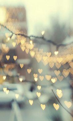 Hearts bokeh lights - Beautiful iPhone wallpapers @mobile9