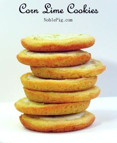 Refreshing and full of zesty lime, these Corn Lime Cookies are packed with flavor you are not expecting. What a great treat for a Cinco de Mayo dessert or anytime you might be making a Mexican meal.