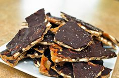 Salted Carmel pretzel bark.  Man, could I use some of this right now!