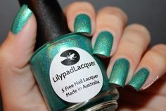 ♆ Cayman Island Delight by Lilypad Lacquer by diamant sur l'ongle