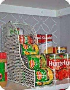ranger les boites de conserve pour ne plus qu'elles roulent