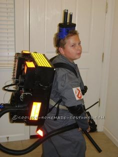 great ghostbuster costume made from things around the house costume for kidshalloween