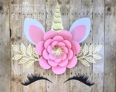 Trendy Baby Shower Table Set Up Unicorn Party Unicorn, Unicorn Themed Birthday, Unicorn Ears, Diy Flowers, Flower Decorations, Paper Flowers, Flower Diy, Flower Wall, Unicorn Baby Shower Decorations