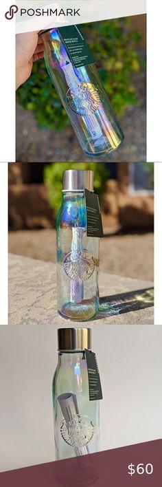 Personalised Custom Steel Thermos Bottle Metal Insulated Iridescent Oil Rainbow