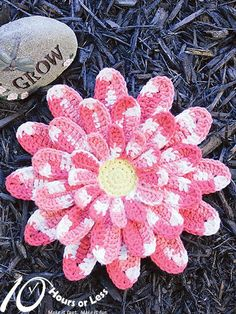 DARLING DAHLIA Dishcloth pattern on Craftsy.com