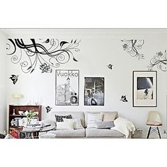 ZOOYOO® removable beautiful abstract picture wall sticker home decor wall stickers for kids/living room - USD $ 14.99