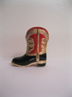 Vintage Cowboy Boot Pincushion by Suite22 on Etsy, $8.00