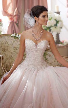 Beautiful blush wedding gown from David Tutera for Mon Cheri, Wedding Dresses 2014, Wedding Attire, Bridal Dresses, Wedding Gowns, Bridesmaid Dresses, Wedding Blog, Lace Wedding, Wedding Dressses, Wedding White