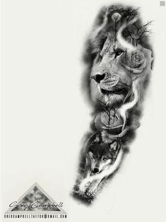 - For booking details email … gregcampbelltatto … – – -For booking details email . - For booking details email … gregcampbelltatto … – – - Wolf Tattoos, Lions Tattoo, Tiger Tattoo, Skull Tattoos, Animal Tattoos, Forearm Tattoos, Body Art Tattoos, Tatoos, Full Sleeve Tattoo Design