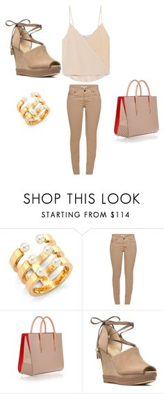 """Untitled #452"" by biencutza-bia ❤ liked on Polyvore featuring Chloé, Barbour, Christian Louboutin, MICHAEL Michael Kors and Chelsea Flower"
