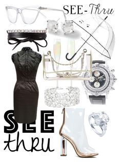 """""""City Walker See-thru"""" by bvn01 ❤ liked on Polyvore featuring Fallon, Prism, LSA International, Kate Spade, HUGO, Ippolita, BERRICLE, Breitling, Chanel and clear"""