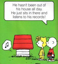 Oh, another one. Seriously, Snoopy sums up my high school years. It also sums up my brother's life (Robin, the drummer/producer/performer).