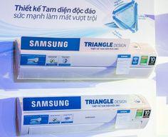 Trong năm 2014, hãng điện tử Samsung đã cho ra đời dòng máy điều hòa tam diện - sản phẩm công nghệ đột phá với thiết kế lạ mắt, tính năng độc đáo, đặc biệt là