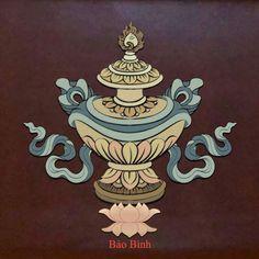 :: Chùa Minh Thành :: - Hội Họa - Hình Ảnh và Ý Nghĩa Bát Kiết Tường Tibetan Art, Tibetan Buddhism, Buddhist Art, Vajrayana Buddhism, New Chinese, Silk Painting, Religious Art, Asian Style, Buddha