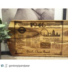 Follow my business @gordonpipandpear #gordonpipandpear lots of exciting designs to start popping up. #followmybusiness #shopsmall #woodworking #lasercutting #design #Repost @gordonpipandpear with @repostapp.  m i l e s t o n e  b i r t h d a y  A board design created for a 70th birthday from the UK! Inspired by events that happened in the UK on the year David was born! Such a special gift for any birthday and a great way to show someone how special they are to you! Etsy store being worked on…