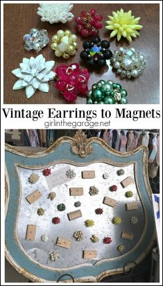 49 best vintage magnets images on pinterest magnets do crafts and how to make vintage repurposed earring magnets easy diy tutorial by girl in the garage solutioingenieria Gallery