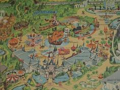 disneyland map from 50s or 60s... I want to see the whole thing though.
