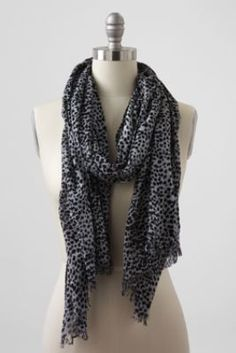 Women's Lofty Printed Gauze Scarf from Lands' End