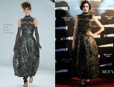 Anne Hathaway In Chanel Couture - 'Interstellar' Shanghai Premiere