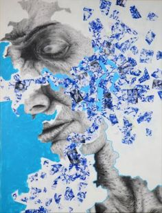 """Saatchi Art is pleased to offer the painting, """"Blue,"""" by Andy Butler. Original Painting: Acrylic, Paint on Canvas, Paper. Size is 0 H x 0 W x 0 in. Blue Painting, Acrylic Painting Canvas, Andy Butler, Artist Research Page, Art Of Memory, Gcse Art Sketchbook, Blue Artwork, Art Diary, Artwork Online"""