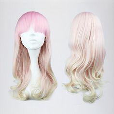lolita onda peluca inspirada por 55cm de color rosa y blanco dulces mixtos – EUR € 16.49