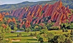 Arrowhead Golf Course, Denver, CO  - The views and rock formations are spectacular!  The track is great as well.