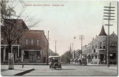 Seventh and Main Streets, Auburn, Indiana  | Car photo