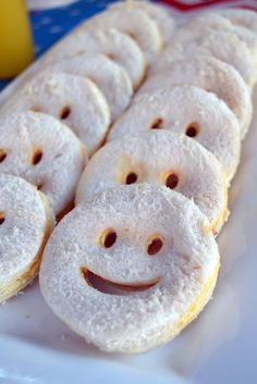 Smiley Face Sandwiches