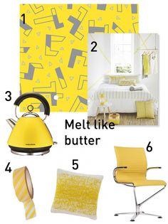 """Melt like Butter"" - Yellow Shopping Wish List Like Butter, Yellow, Shopping, Home Decor, Decoration Home, Room Decor, Home Interior Design, Home Decoration, Interior Design"