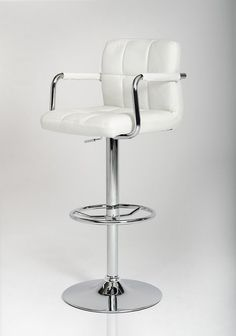Modrest T-1177- White Eco-Leather Contemporary Barstool VGCBT1177-WHTProduct:14831 Features:Contemporary Bar StoolChrome Plated Adjustable Pneumatic BaseUpholstered in Eco-LeatherSturdy Base and Foot SupportSwivel TopColor: WhiteSold as 1 chair per boxDimensions:Stool : W19