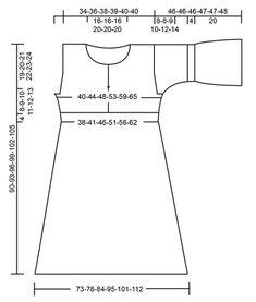 Vestido de punto con patrón de calados y mangas ¾. Tallas: S – XXXL. La pieza está tejida en DROPS Paris.