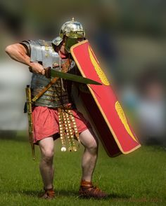 Roman soldier ready to combat!