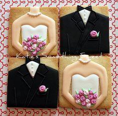 Wedding Cookies  Edible Wedding Favors  by katiesomethingsweet, $54.00