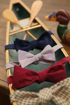 Great way to display bow ties in a retail setting.