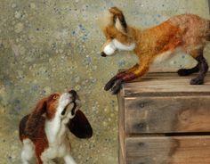 HAND FELTED FOX & HOUND