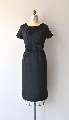 Hot Five dress vintage 1950s dress black 50s by DearGolden