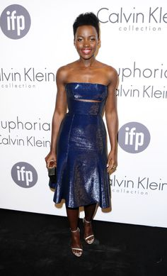 Lupita Nyong'o attending the Calvin Klein Party at the Cannes Film Festival; May 15, 2014