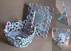 creative ways to recycle newspaper Recycled Paper Crafts, Recycled Magazines, New Crafts, Crafts For Kids, Arts And Crafts, Rolled Magazine Art, Craft From Waste Material, Quilled Creations, Newspaper Crafts