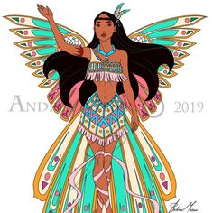 """""""Disney Harmonix"""" Collection so far! By Andrea Meier 🧚🏻♀️ Here are the first five characters and all of them are girls. Princess Pocahontas, Disney Pocahontas, Disney Princess Art, Disney Princess Pictures, Disney Princess Dresses, Disney Fan Art, Cute Disney, Disney Girls, Disney Outfits"""