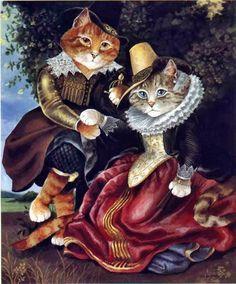 Нарисованные кошки - часть 3 (Susan Herbert) » Картины, художники, фотографы на Nevsepic
