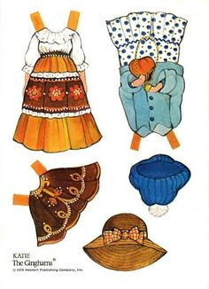 Katie's Country Store Ginghams Paper Dolls /\ ...........•❤° Nims °❤•