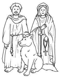 San Francesco e Santa Chiara - http://www.bambinievacanze.com/2013/10/santi-da-colorare-per-bambini-disegni-immagini-da-stampare.html