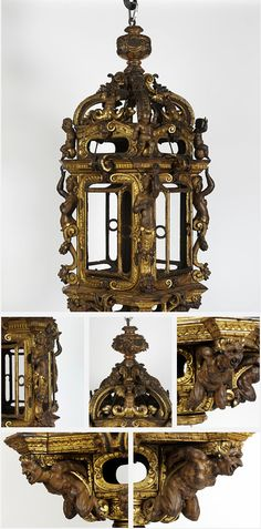 Lantern. Venice, Italy. 1570-1600. Gilt wood (pine). This splendid lantern was probably hung in a Venetian palazzo (palace) for special occasions.