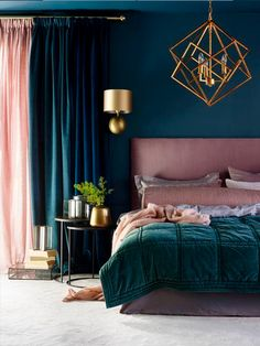 Best Bedroom Interior Design Ideas With Luxury Touch 14 - All About Decoration Master Bedroom Design, Home Decor Bedroom, Living Room Decor, Bedroom Ideas, Master Bedrooms, Bedroom Images, Bedroom Curtains, Velvet Curtains, Dark Furniture Bedroom