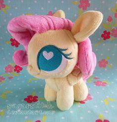 MLP FiM: Fluttershy Ponydoll plush soft sculpture chibi by sugarstitch.deviantart.com on @deviantART