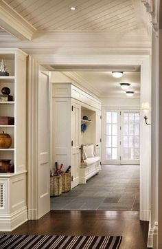 Open up the basement level? Connect the Mudroom to the existing room? It could give us more flexibility with the staircase?